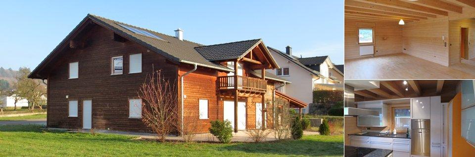 Collage von Holzhauses in Serrig